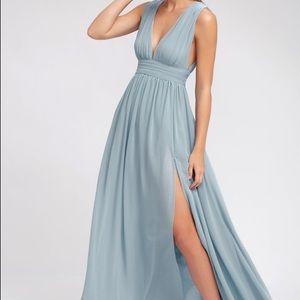 Lulu's Heavenly Hue's Light Blue Maxi Dress
